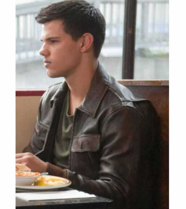Abduction Taylor Lautner Brown Real Leather Jacket