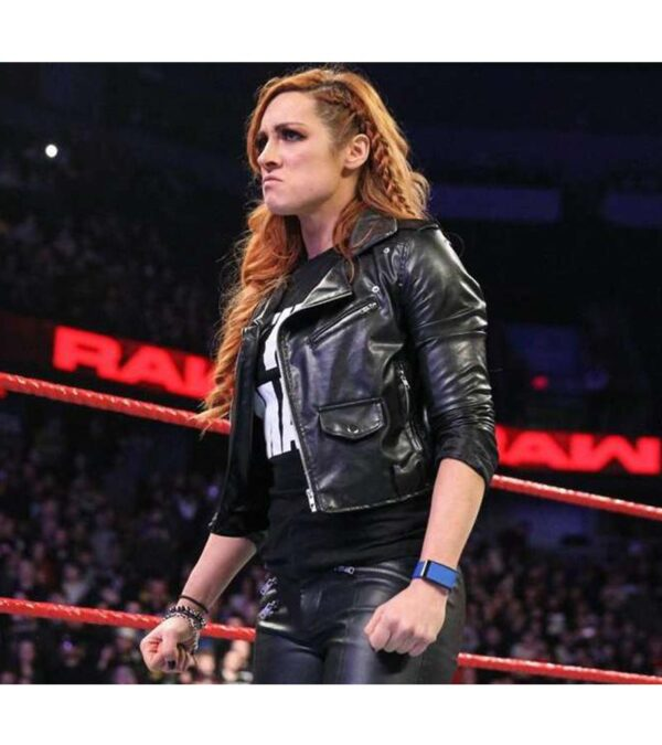 Becky Lynch Slim Fit Biker Leather Jacket