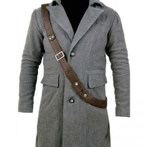 BloodBorne Game The Hunter Grey Trench Long Wool Coat