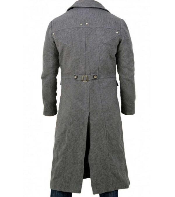 Men Long Wool Trench Over Coat