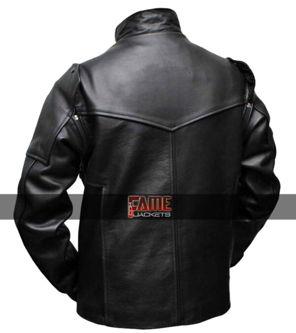 Bucky Barnes Black Leather straps Jacket