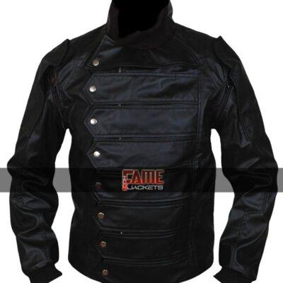 Buy Bucky Barnes Black Leather Jacket