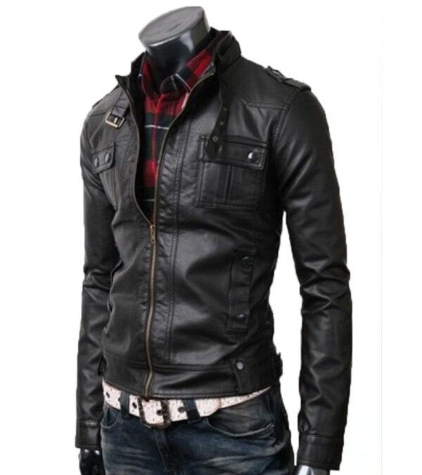 Slim Fit Black Rider Leather Jacket