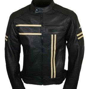 Men Cafe Racer Vintage Real Leather Jacket