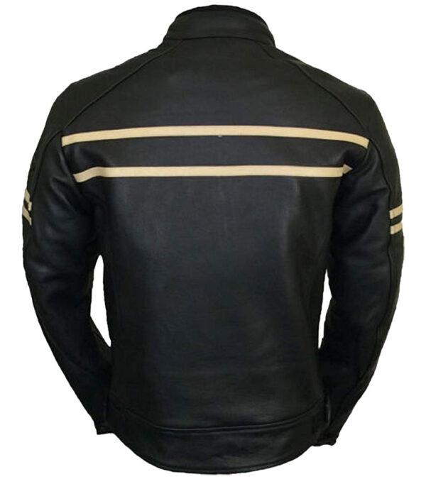 cafe racer real leather vintage biker jacket
