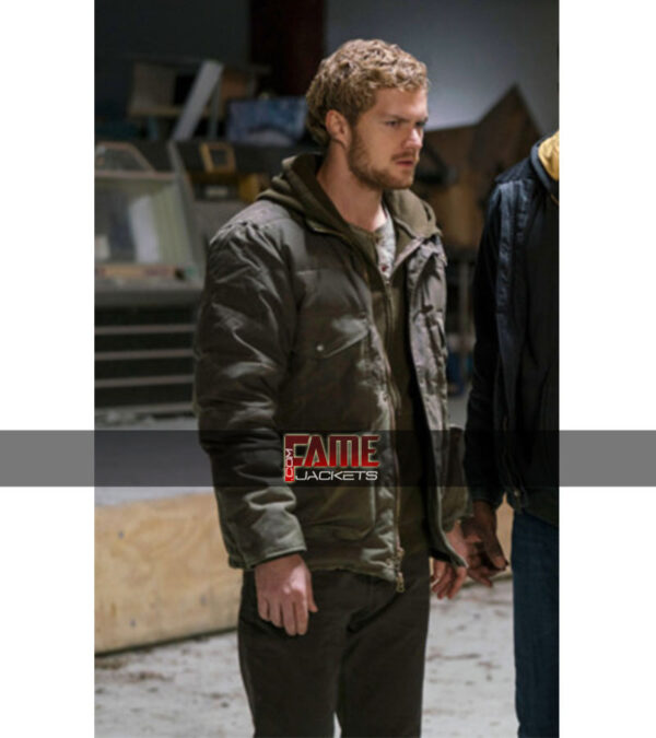 Finn jones The defenders casual faux leather jacket