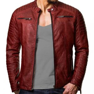 Read Vintage Cafe Racer Distressed Biker Jacket