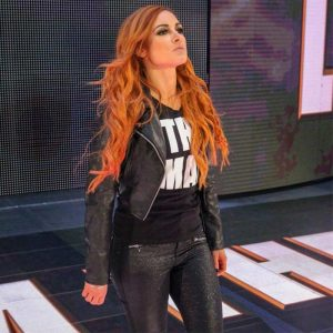 Becky Lynch Black women Biker Distressed Leather Jacket