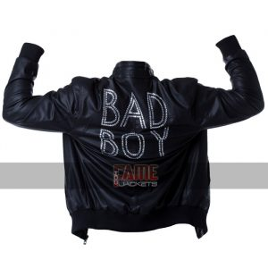 bad boy new style black leather jacket