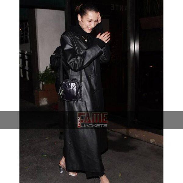 Women Casual Leather Rain Coat