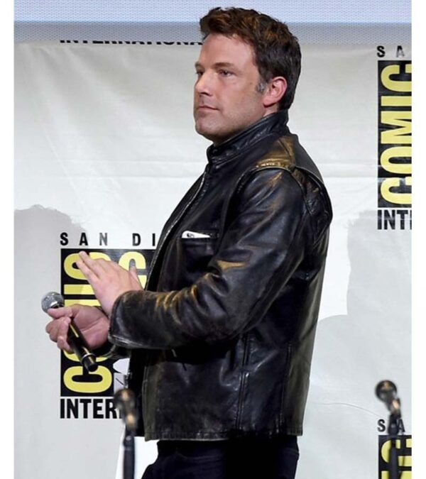 Ben Affleck Casual Distressed Real Leather Jacket