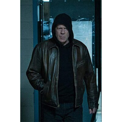 Bruce Willis Distress Brown Leather Jacket