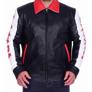 Men Multi Color Bomber Biker Jacket