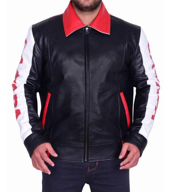 Men Multi Color Bomber Biker Jacket