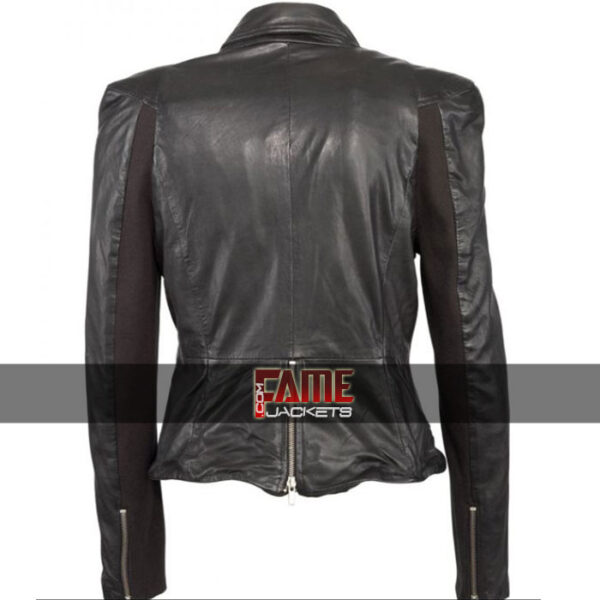 Buy at $40 Off - Cheryl Cole Real Black Leather Slim Fit Jacket