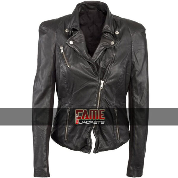 Cheryl Cole Black Leather Biker Jacket Sale