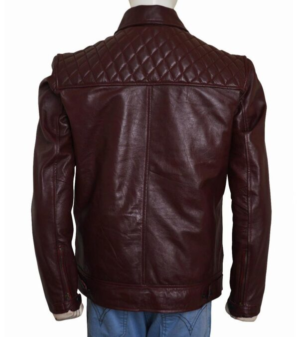 Men & Women Casual Quilted Real Brown Leather Jacket