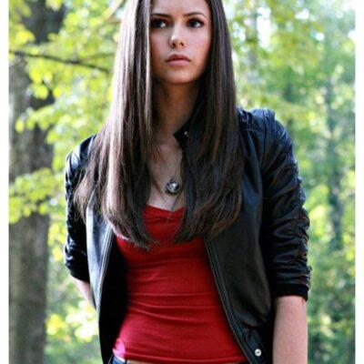 Elena Giblet Black Biker Real Leather Jacket
