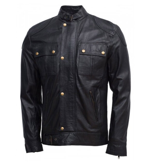 Gerard Butler Olympus Faux Leather Jacket For Men
