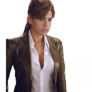 Brown Slim Fit Leather Jacket For Ladies
