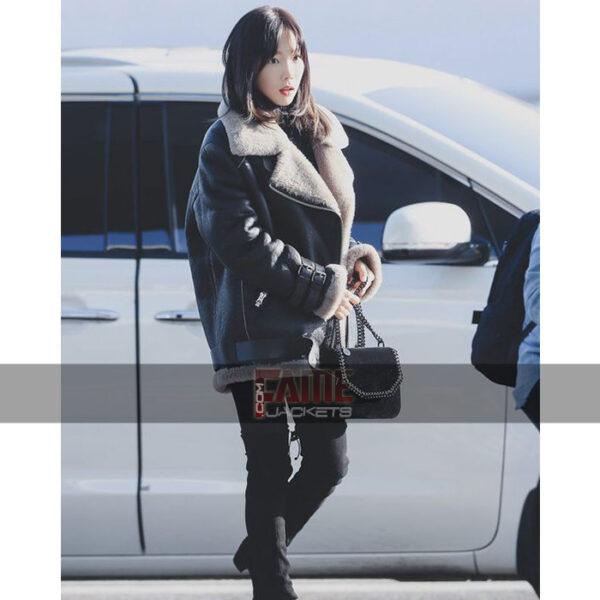 Goo Hara BF 3 White Fur Jacket