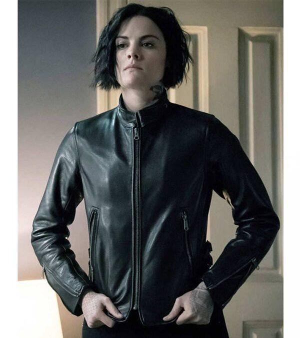 Ladies Black Slim Fit Real Leather Jacket