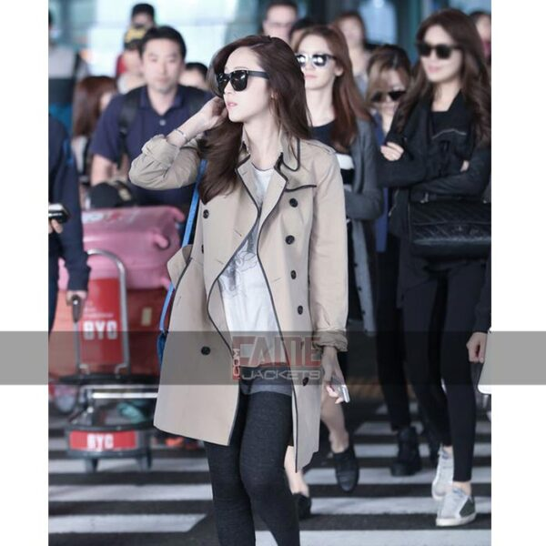 ladies brown cotton long coat
