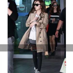 jessica jung brown over coat