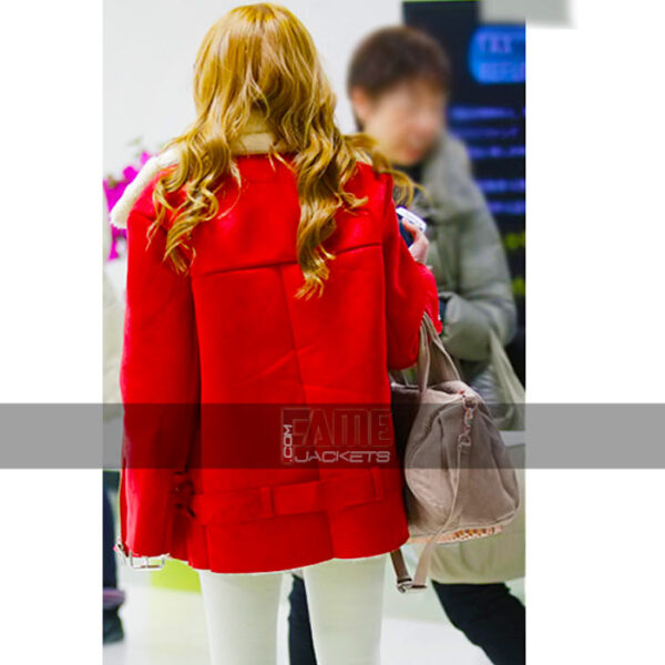 jessica jung fur lining real leather jacket