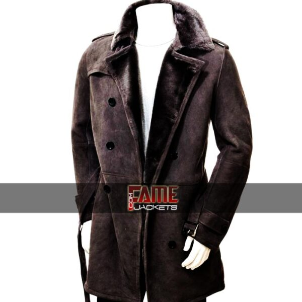 Brown Fur Lining Over Coat