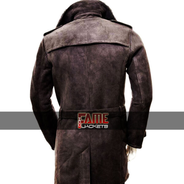 Men Casual Brown Suede Fur Lining Coat