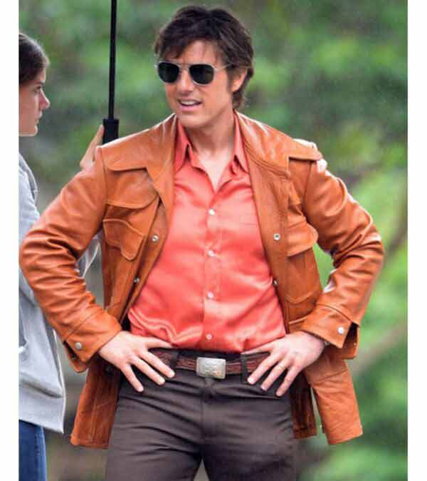 Tom Cruise Vintage Orange leather Jacket