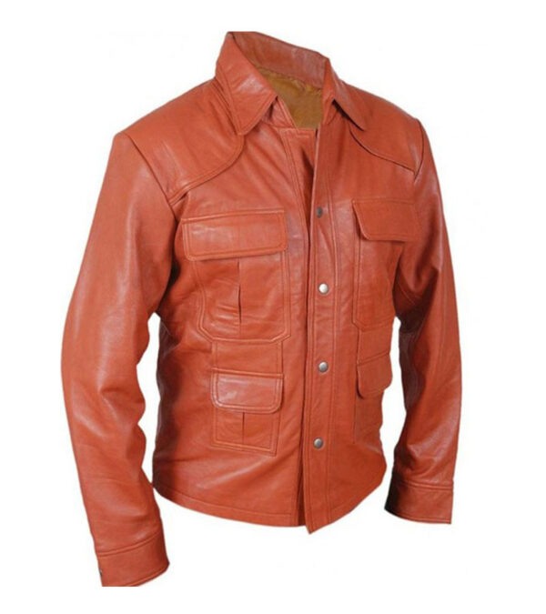Tom Cruise American Made Vintage Style Orange Leather Jacket