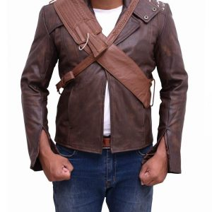 Men Brown Real Leather Jacket