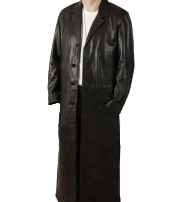 WWE The Undertaker Black Leather Rain Coat