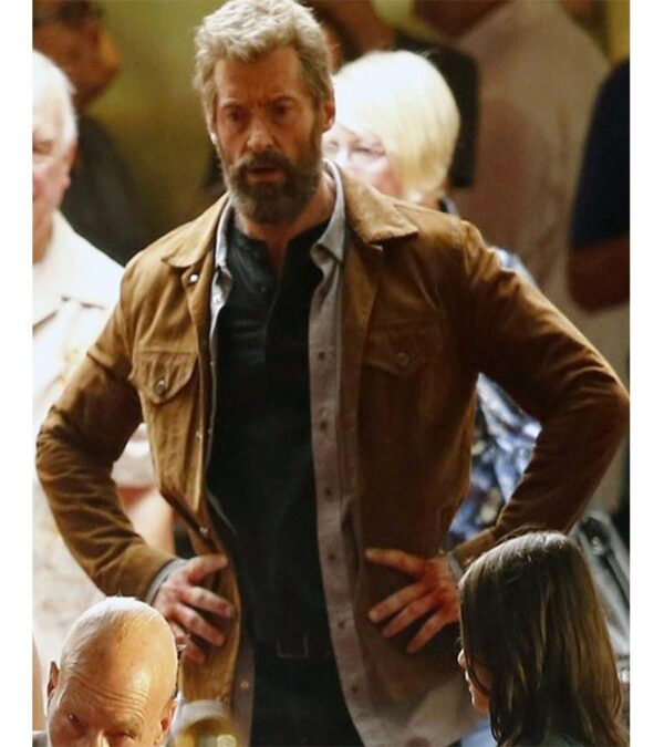X Men Casual Brown Leather Jacket