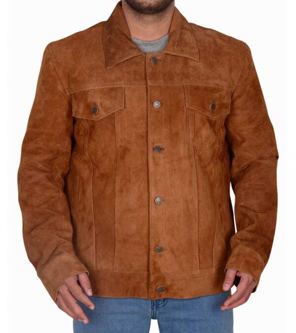 X Men Wolverine Hugh Jackman Brown Leather Jacket