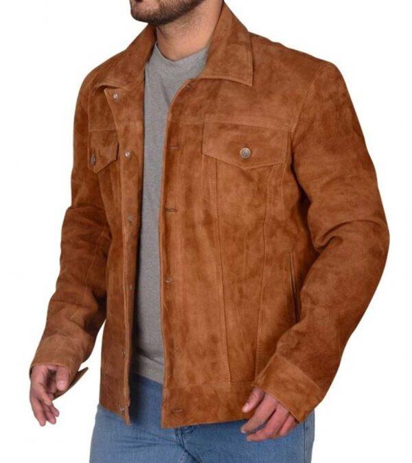 X Men Brown Faux Leather Jacket