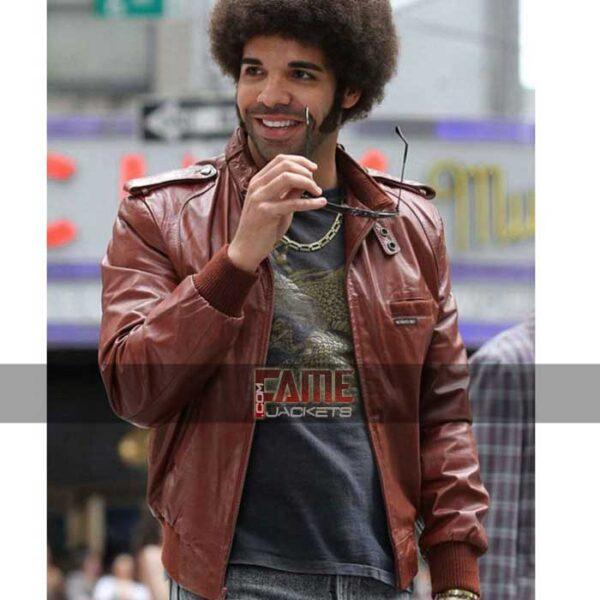 aubrey graham drake leather jacket