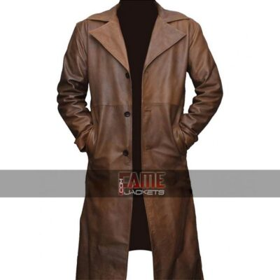 $50 Off on Batman Brown Leather Mens Winter Coat