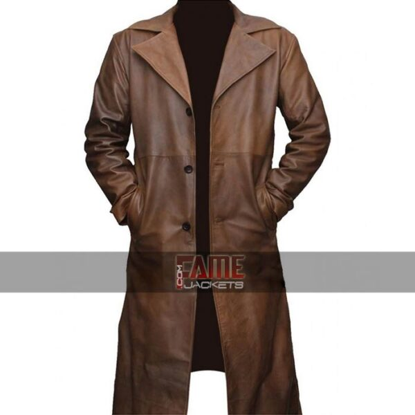 $50 Off on Batman Brown Leather Mens Winter Coat