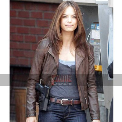beauty and the beast catherine chandler brown leather jacket
