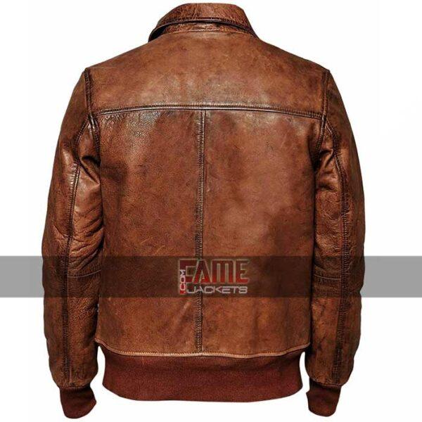cafe racer men vintage biker distressed brown leather jacket