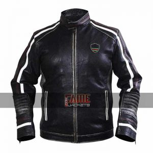 cafe racer retro black brando real leather jacket