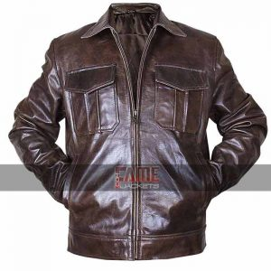 Copper Rub off vintage biker jacket