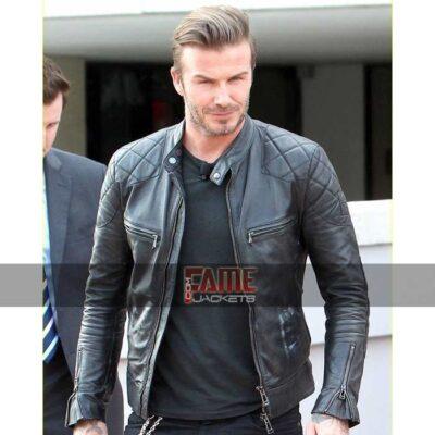 david beckham black leather jacket