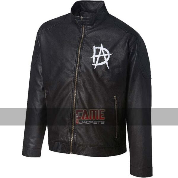dean ambrose logo faux leather jacket
