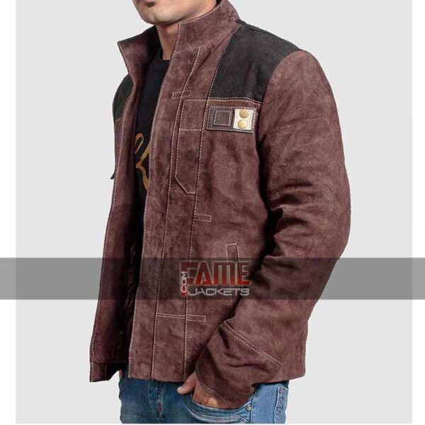 han solo brown suede leather jacket