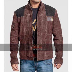 mens brown suede leather jacket