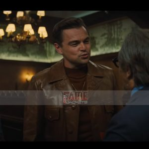 Buy Rick Dalton Leonardo DiCaprio Vintage Brown Leather Jacket